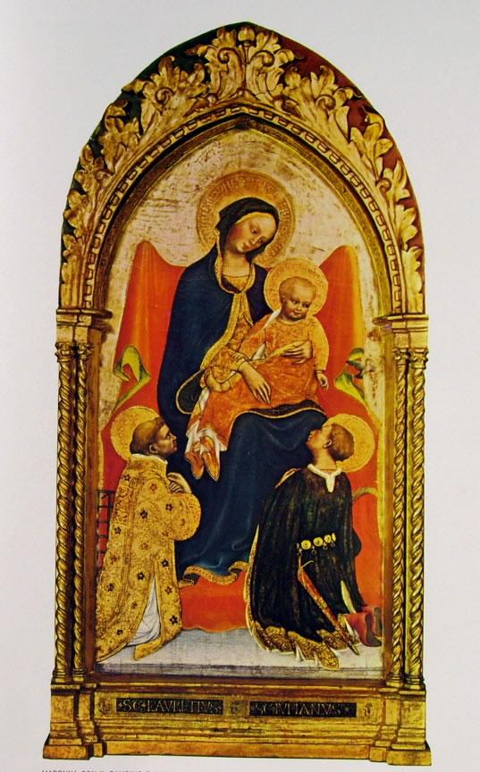 Gentile da Fabriano: Madonna con il Bambino e i santi