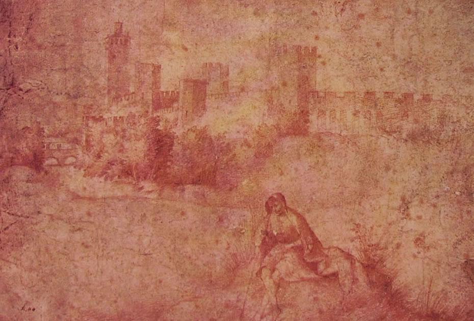 Giorgione: Veduta di Castelfranco e pastorello