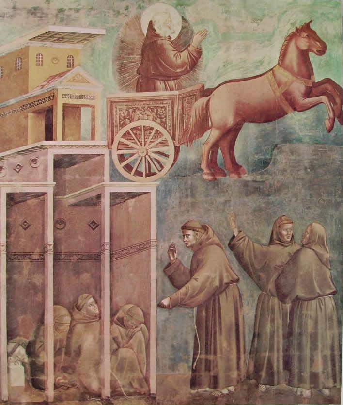 Giotto: La visione del carro di fuoco