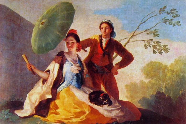 L'ombrellino appartenente ai Cartoni per gli arazzi reali
