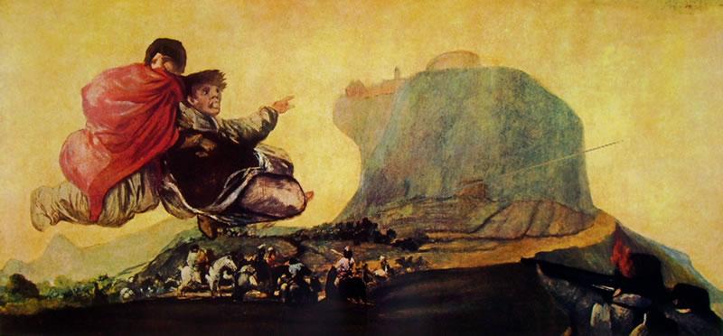 Goya - Visione fantasticha dalle pitture nere della quinta del sordo