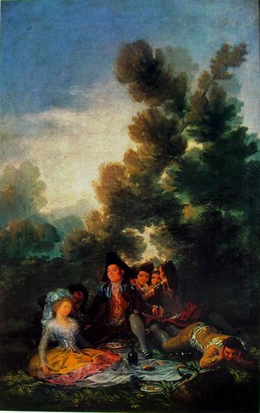 Goya - Merenda campestre eseguita per i cartoni degli arazzi reali