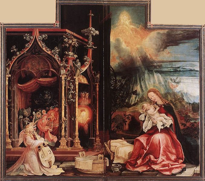Matthias Grünewald: Altare di Isenheim - Allegoria della Natività
