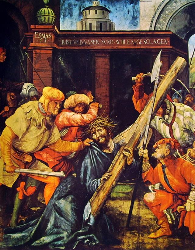 Matthias Grünewald: Il trasporto della Croce