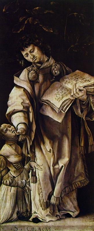 Matthias Grünewald: San Ciriaco e la principessa Artemia