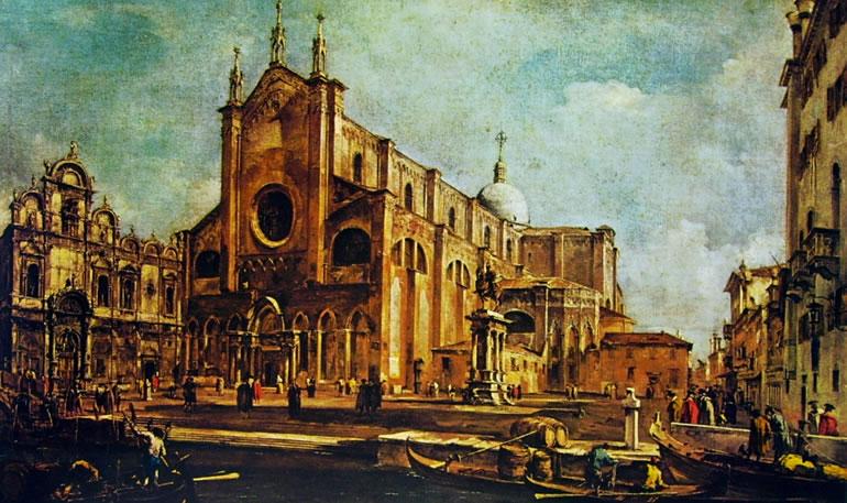 Francesco Guardi: Il campo dei santi Giovanni e Paolo