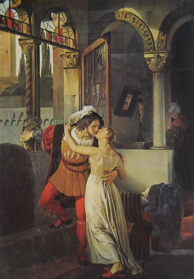 Hayez: Romeo e Giulietta