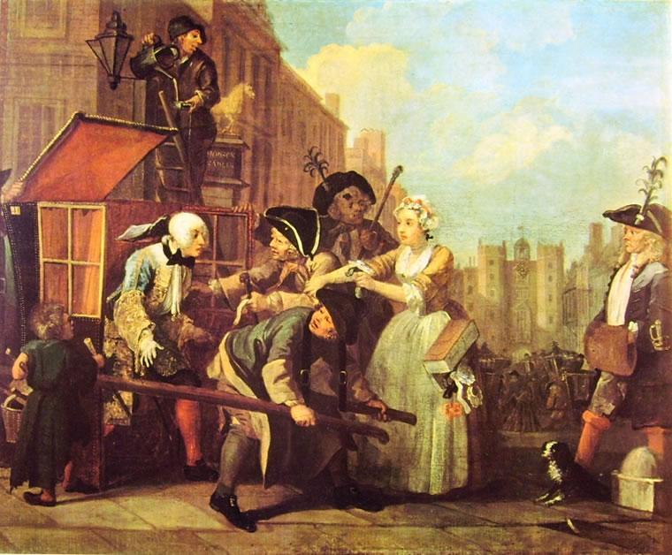 William Hogarth: La carriera del libertino - L'arresto