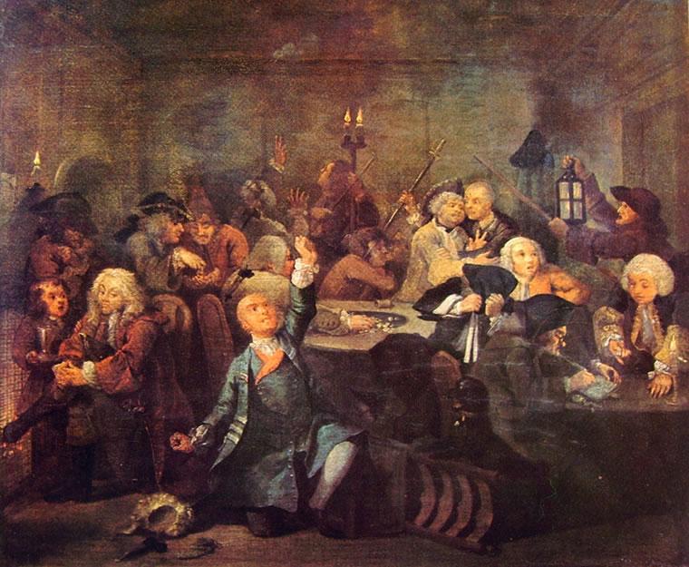 William Hogarth: La carriera del libertino - La bisca