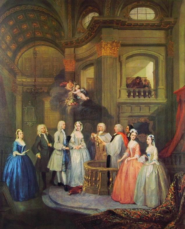 William Hogarth: Le nozze di Stephan Beckingham e Mary Cox