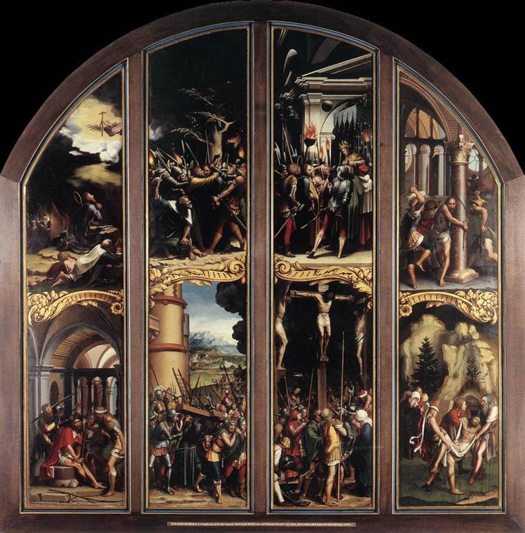 Hans Holbein il Giovane: Quattro pannelli di un altare della Passione