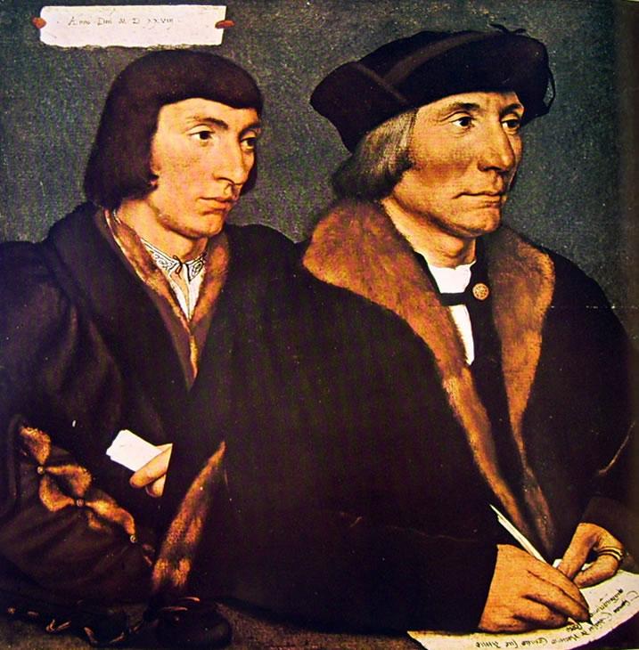 Hans Holbein il Giovane: Ritratto Thomas Godsalve con il figlio John