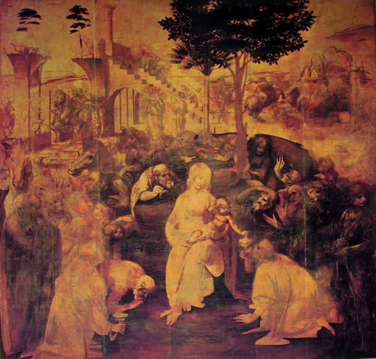 Leonardo da Vinci: L'adorazione dei magi