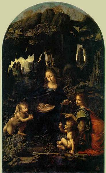 Leonardo - La Vergine delle rocce, Parigi museo del Louvre