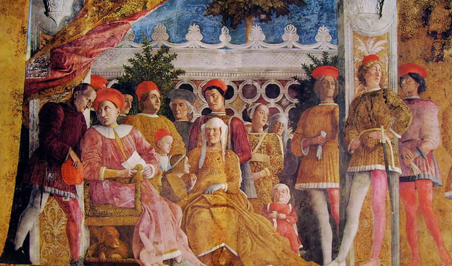 Camera degli sposi la corte del mantegna for Mantegna camera degli sposi