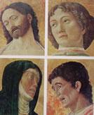 Cristo, San Sebastiano, Addolorata, San Giovanni Evangelista