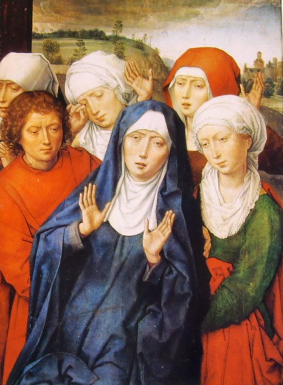 Hans Memling: Dal dittico di Granada - Le pie donne piangenti e San Giovanni Evangelista