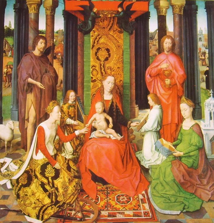 Trittico del Matrimonio mistico di Santa Caterina - Madonna col Bambino