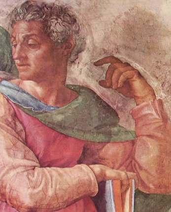 Michelangelo - Volta della Capp.la Sistina, partic.lare del profeta Isaia