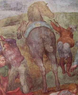 Michelangelo - La conversione di Saulo, Cappella Paolina