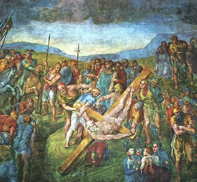 Michelangelo -Crocifissione di San Pietro -1545/1550