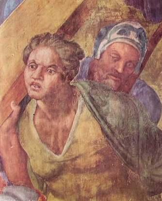 La crocifissione di S. Pietro, particolare Cappella Paolina
