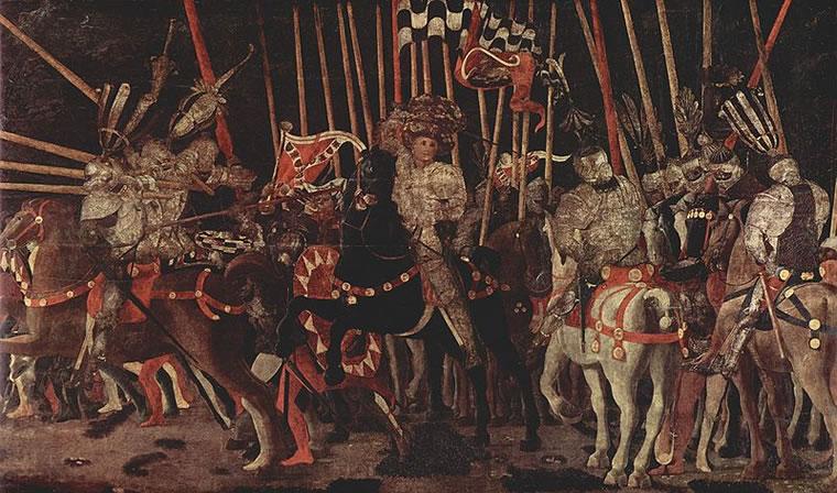 Battaglia di San Romano - Intervento di Michelangelo da Cotignola