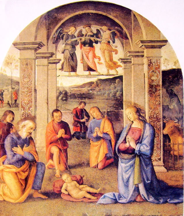 Il Perugino: Ornamentazione del Cambio - Il Presepio
