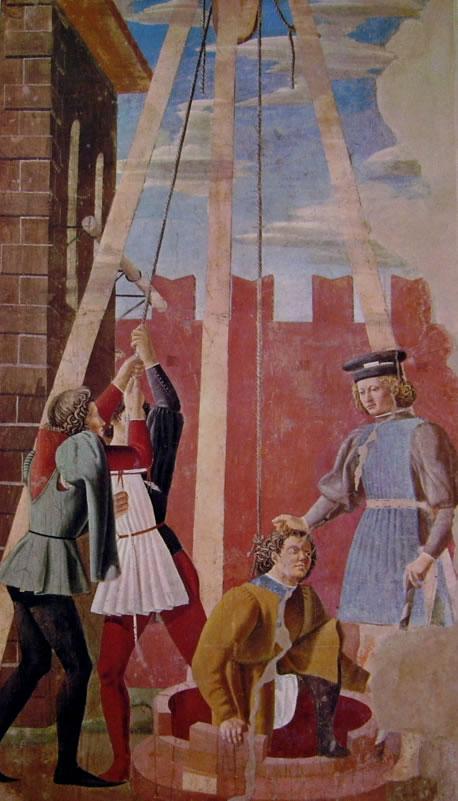 Piero della Francesca - Storie della vera Croce: Il Supplizio dell'ebreo