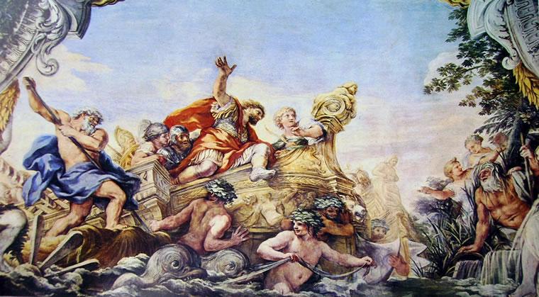 Pietro da Cortona: Enea giunge alle foci del Tevere