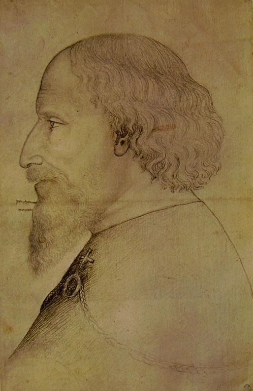 Pisanello: Testa d'uomo in profilo