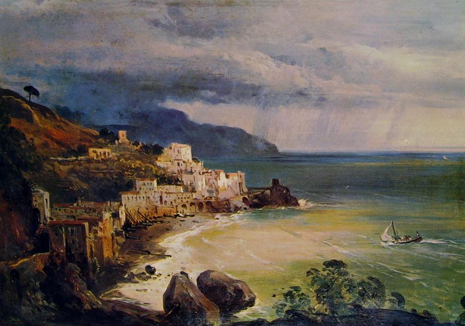 Tempesta sul Golfo di Amalfi , cm. 29 x 41, Museo di Capodimonte ...