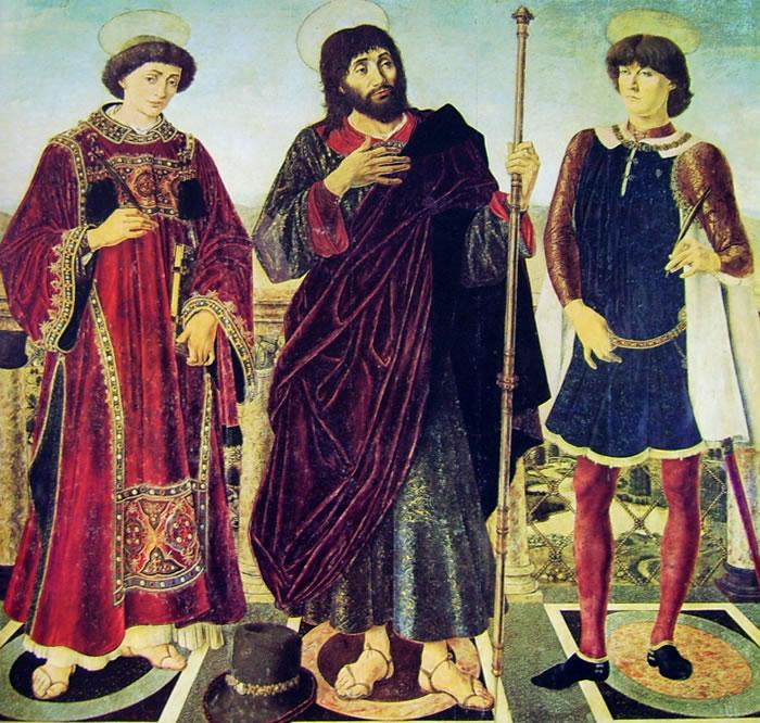 Antonio del Pollaiolo: I santi Vincenzo Giacomo e Eustachio
