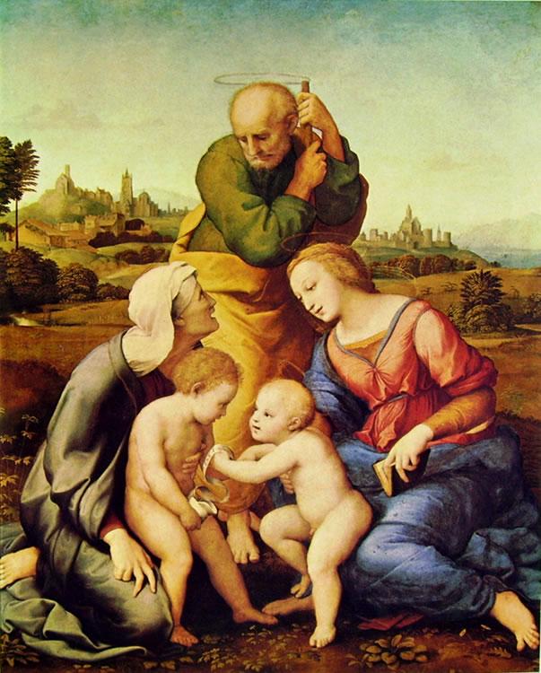 Raffaello Sanzio: Sacra famiglia Canigiani