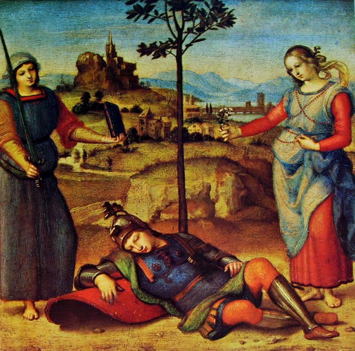 Raffaello Sanzio: Il sogno del cavaliere