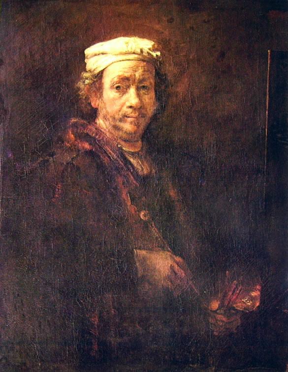 Rembrandt Harmenszoon Van Rijn: Autoritratto al cavalletto