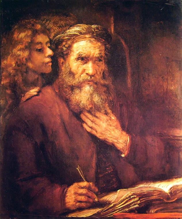 Rembrandt Harmenszoon Van Rijn: San Matteo e l'Angelo