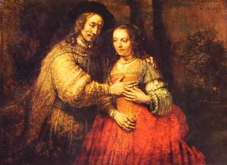 Rembrandt Harmenszoon Van Rijn: La sposa ebrea