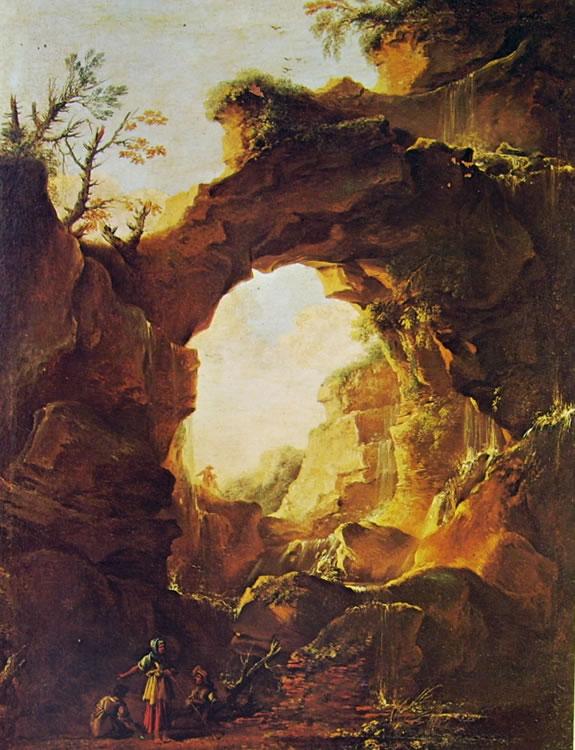 Salvator Rosa: Grotta con cascata