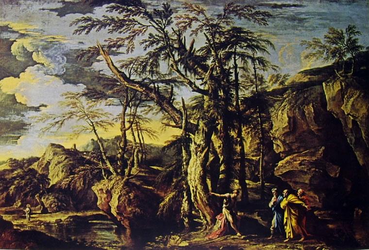 Salvator Rosa: Paesaggio con San Giovanni Battista
