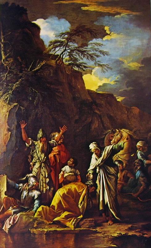 Salvator Rosa: San Filippo battezza l'eunuco della regina Candace