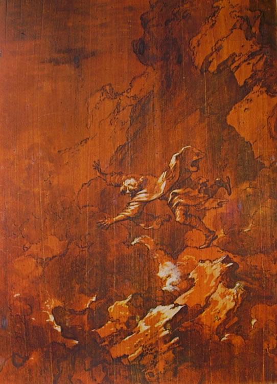 Salvator Rosa: La morte di Empedocle nella voragine