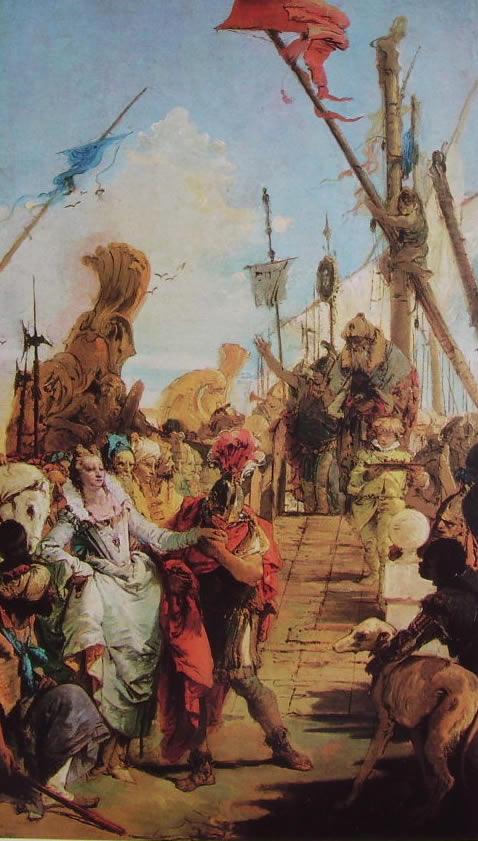 Il Tiepolo: L'incontro di Antonio e Cleopatra