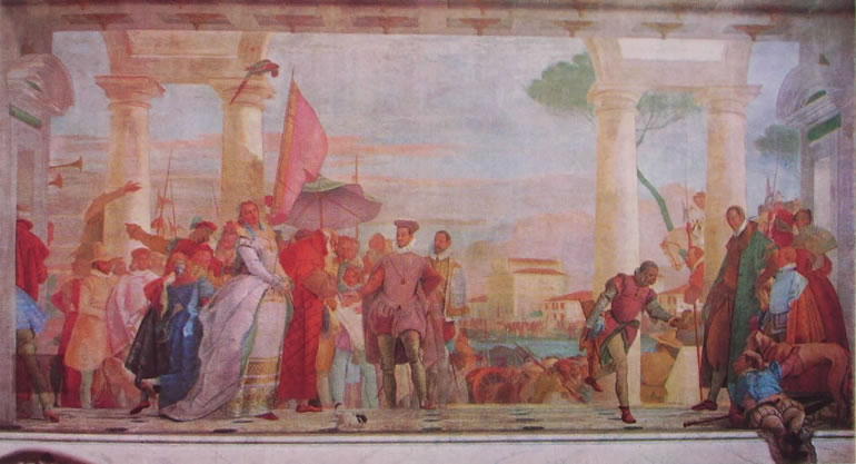 Il Tiepolo: Il ricevimento di Enrico terzo