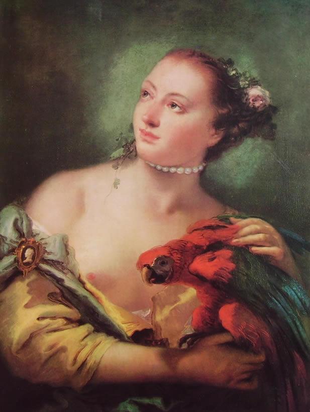 Il Tiepolo: Giovane con pappagallo