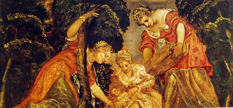Il Tintoretto: Mosè salvato dalle acque