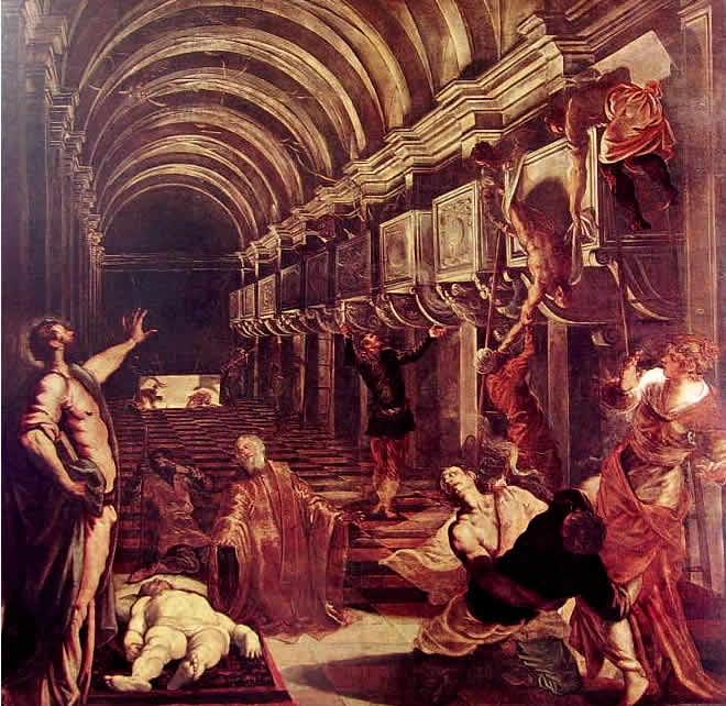 Il Tintoretto: Il ritrovamento del corpo di San Marco