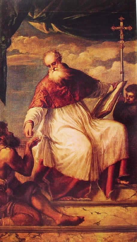 Tiziano: San Giovanni elemosinario