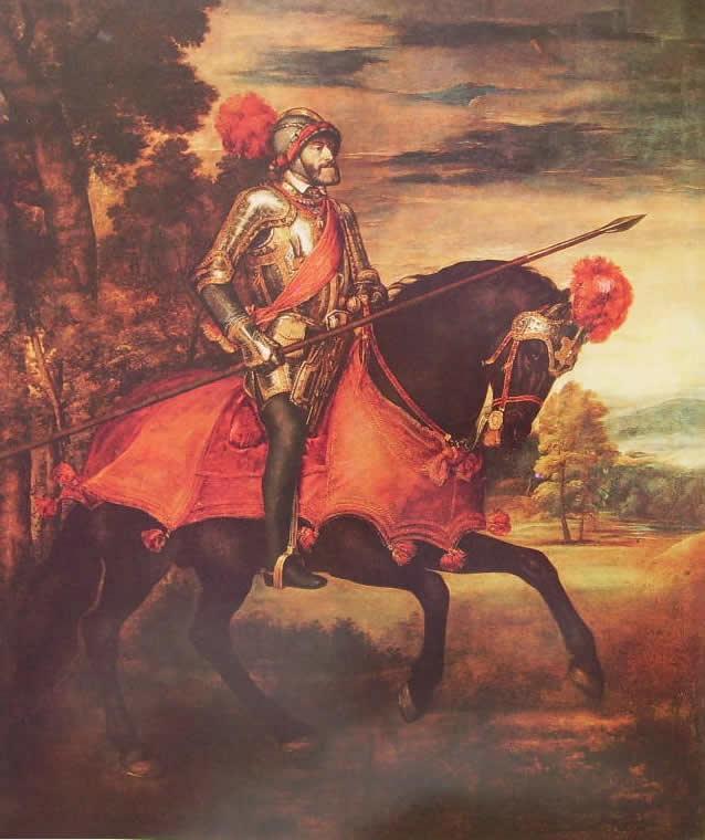 Tiziano: Ritratto di Carlo V a cavallo