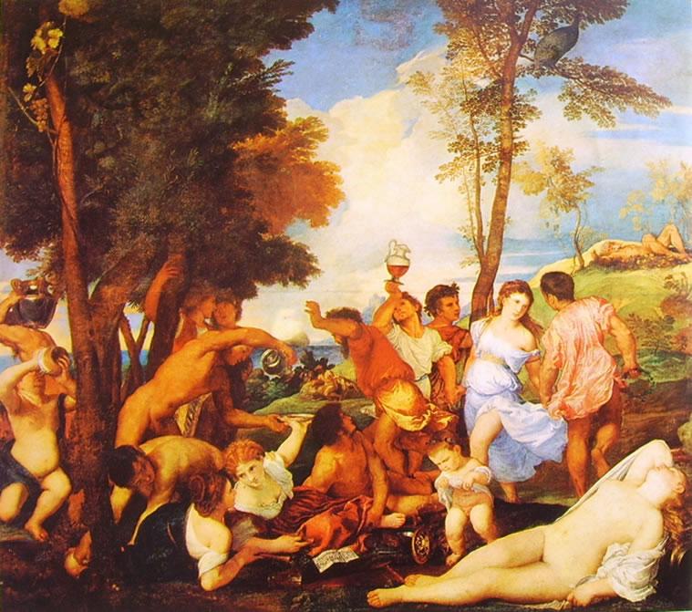 Tiziano: Baccanale - gli Andrii